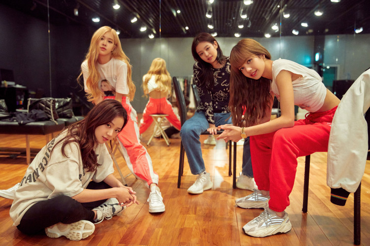 """(L-R) Jisoo, Rose, Jennie and Lisa from Blackpink in an undated still from their Netflix documentary """"BLACKPINK: Light Up the Sky""""."""